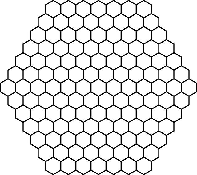 Honeycomb clipart black and white. Free image on pixabay