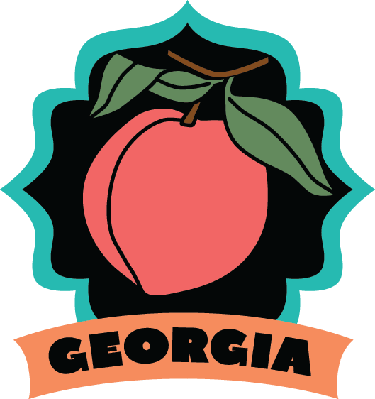 Luggage label or travel. Georgia clipart