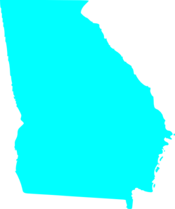 Georgia clipart. State map outline solid