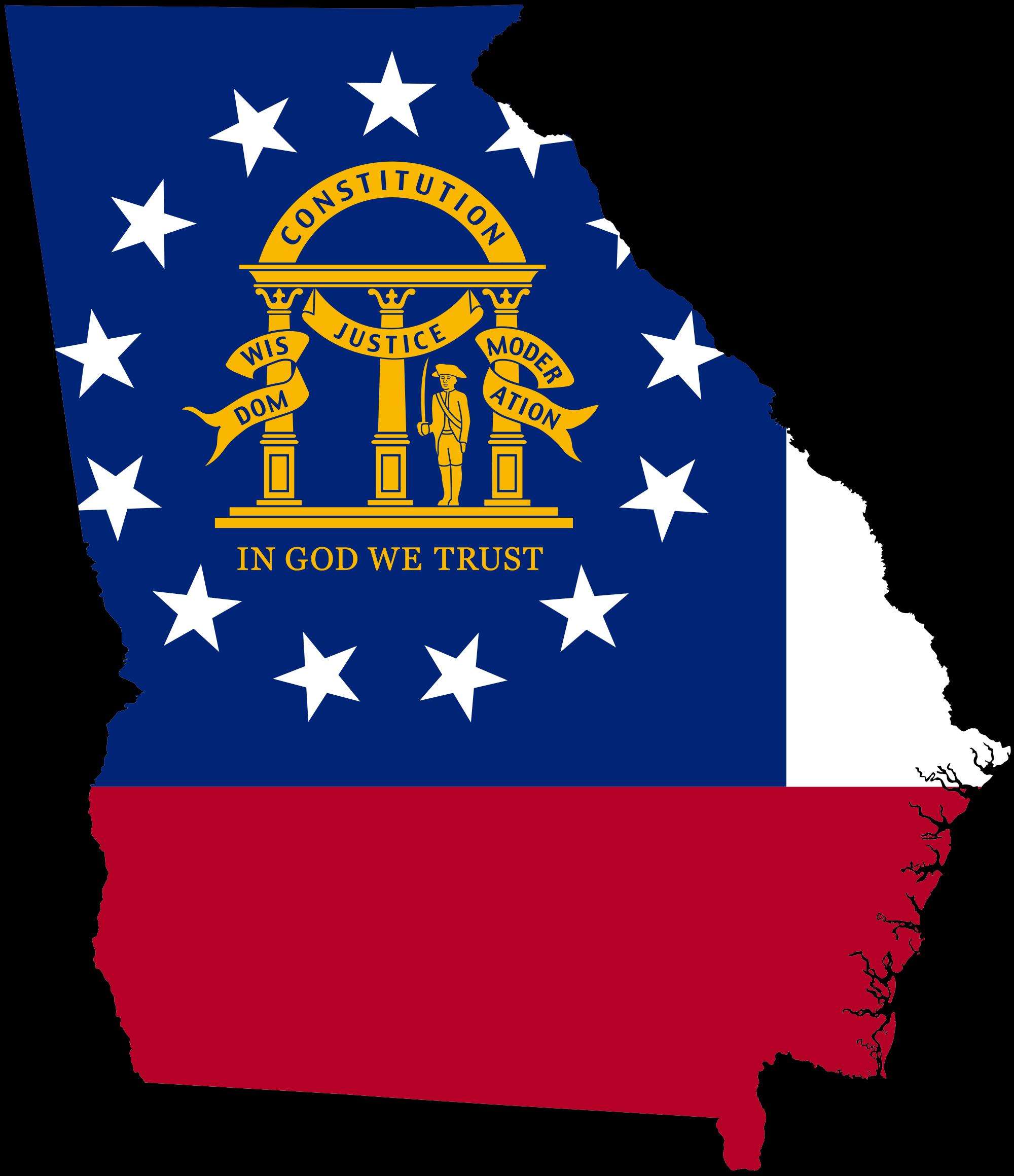 File flag map of. Georgia clipart
