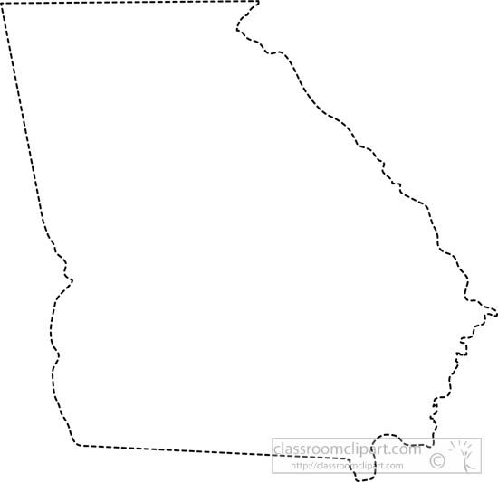Georgia clipart. Us state black white