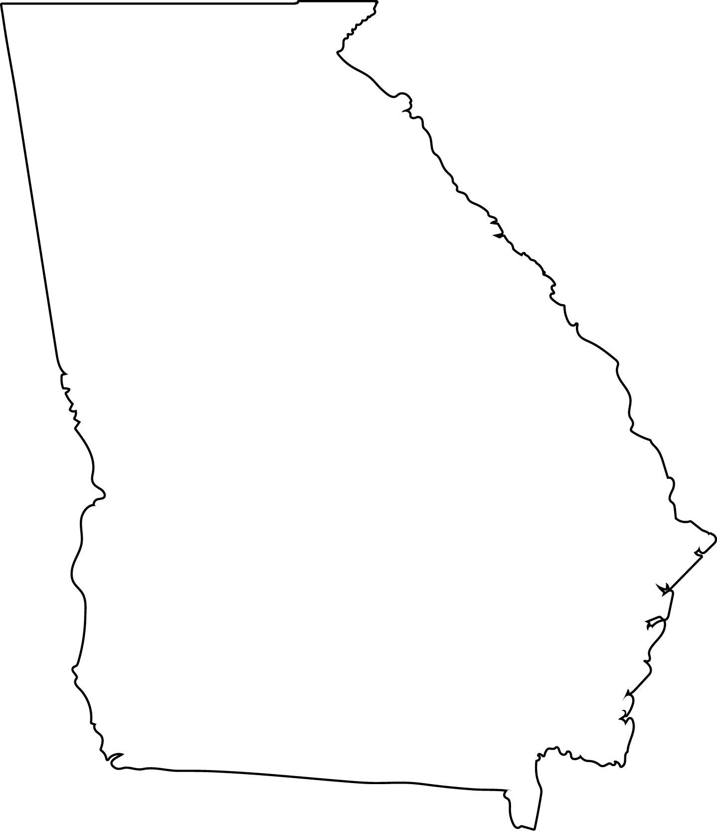 Georgia clipart. Vector state svg png