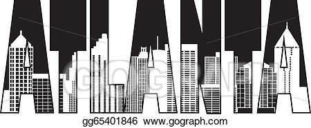 Georgia clipart atlanta. Vector art city text