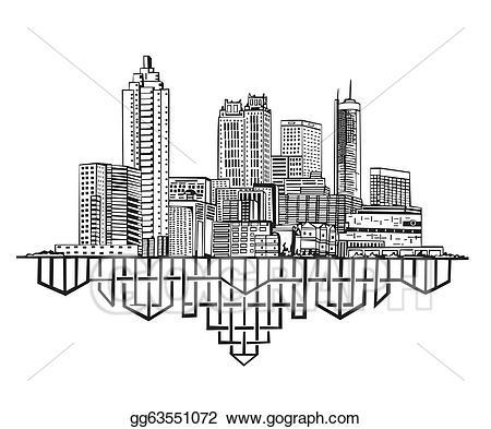 Vector art ga skyline. Georgia clipart atlanta