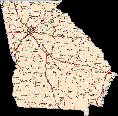 Georgia clipart big. Highway map pbs learningmedia