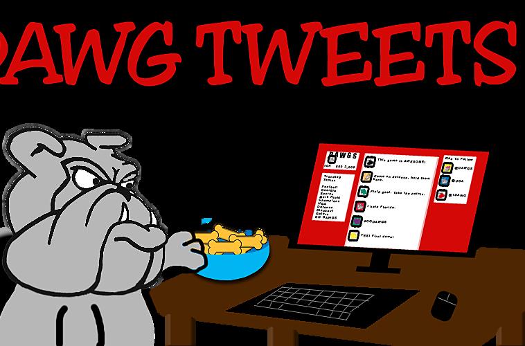 Georgia clipart cartoon. Bulldogs dawg tweets beating