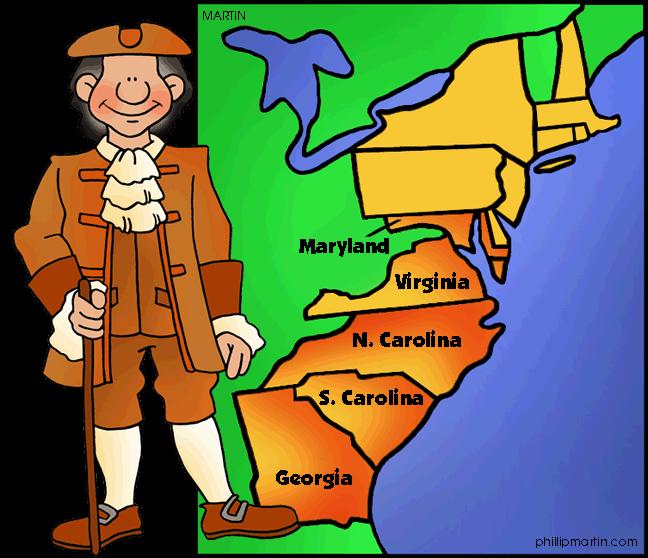 Georgia clipart cartoon. Southern colonies mrs cain