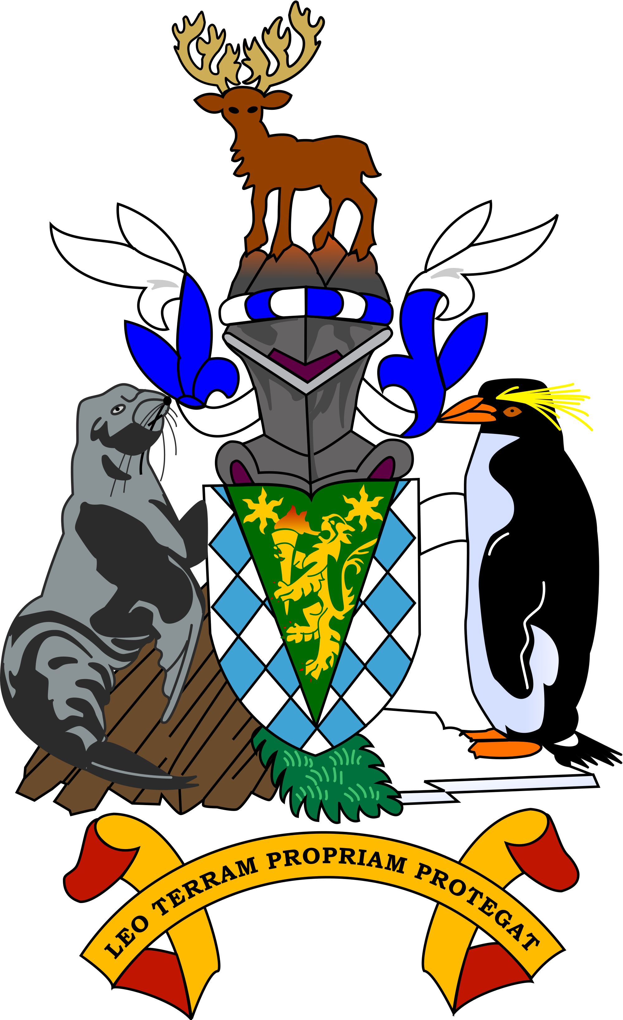 Georgia clipart cartoon. Coat of arms south