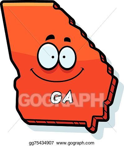 Georgia clipart cartoon. Vector illustration