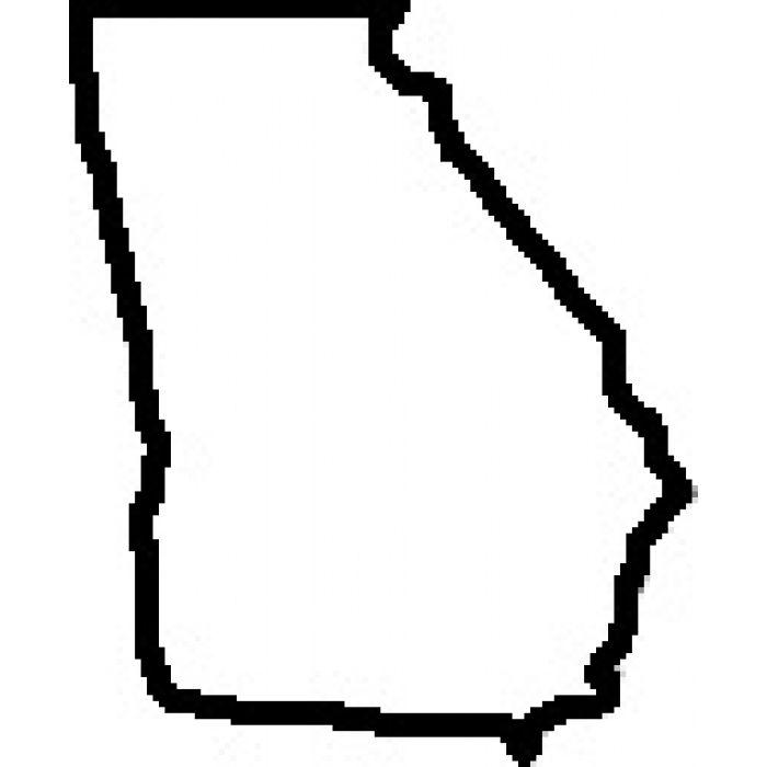 Outline images teacher of. Georgia clipart ga state