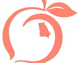 Peach clipart georgia peach. Free download best