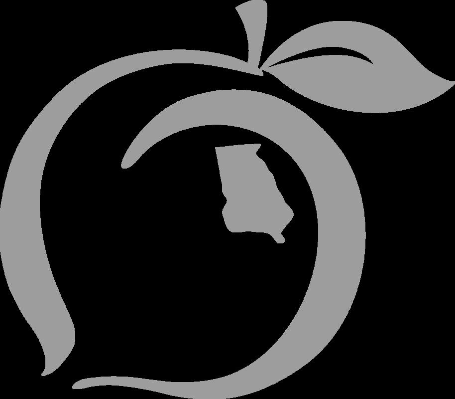 State pride logo sticker. Peach clipart georgia peach