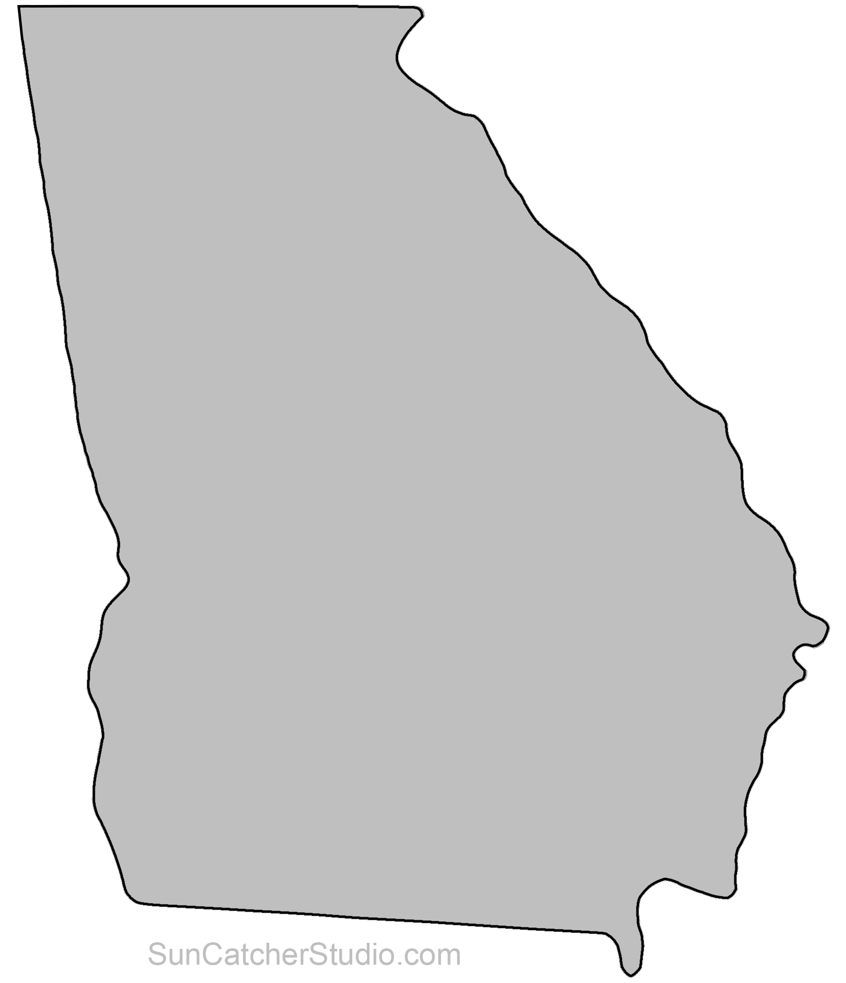 Map outline printable state. Georgia clipart shape