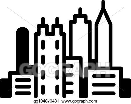Georgia clipart simple. Vector atlanta skyline icon