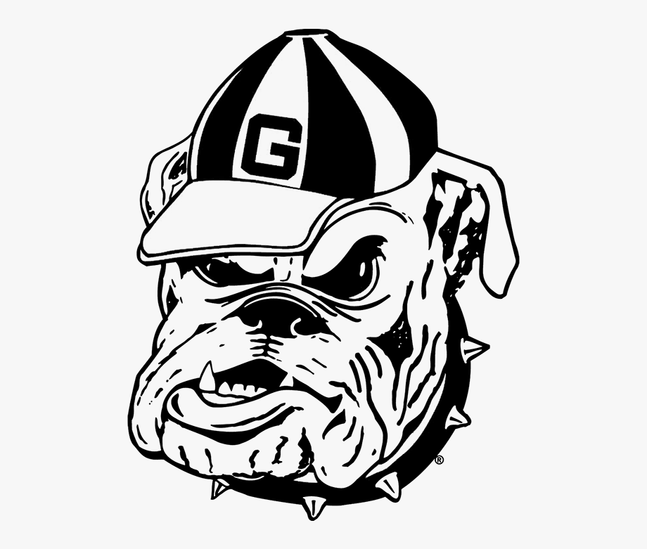 Georgia clipart simple. Bulldog outline bulldogs coloring