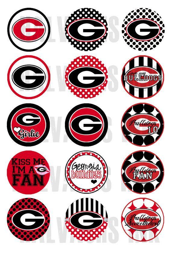 Printable bottle cap stickers. Georgia clipart sticker