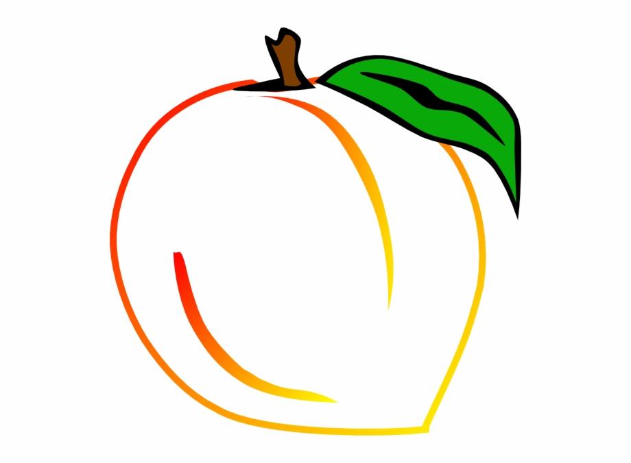 Fresh clip art transparent. Peach clipart georgia peach
