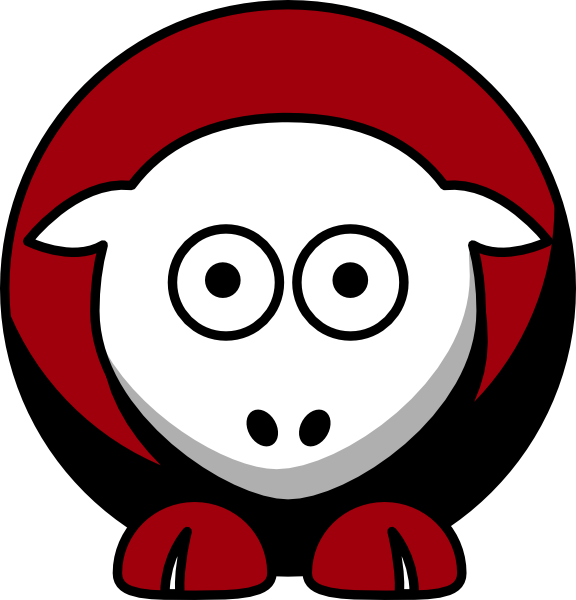 Georgia clipart vector. Sheep bulldogs team colors