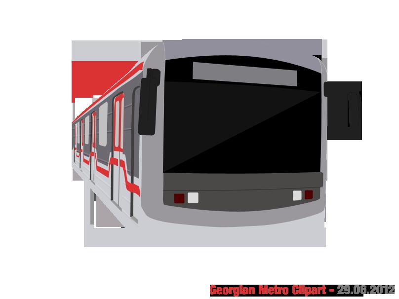 Georgian metro by sanakoev. Georgia clipart vector