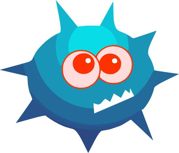 Virus clip art at. Germ clipart