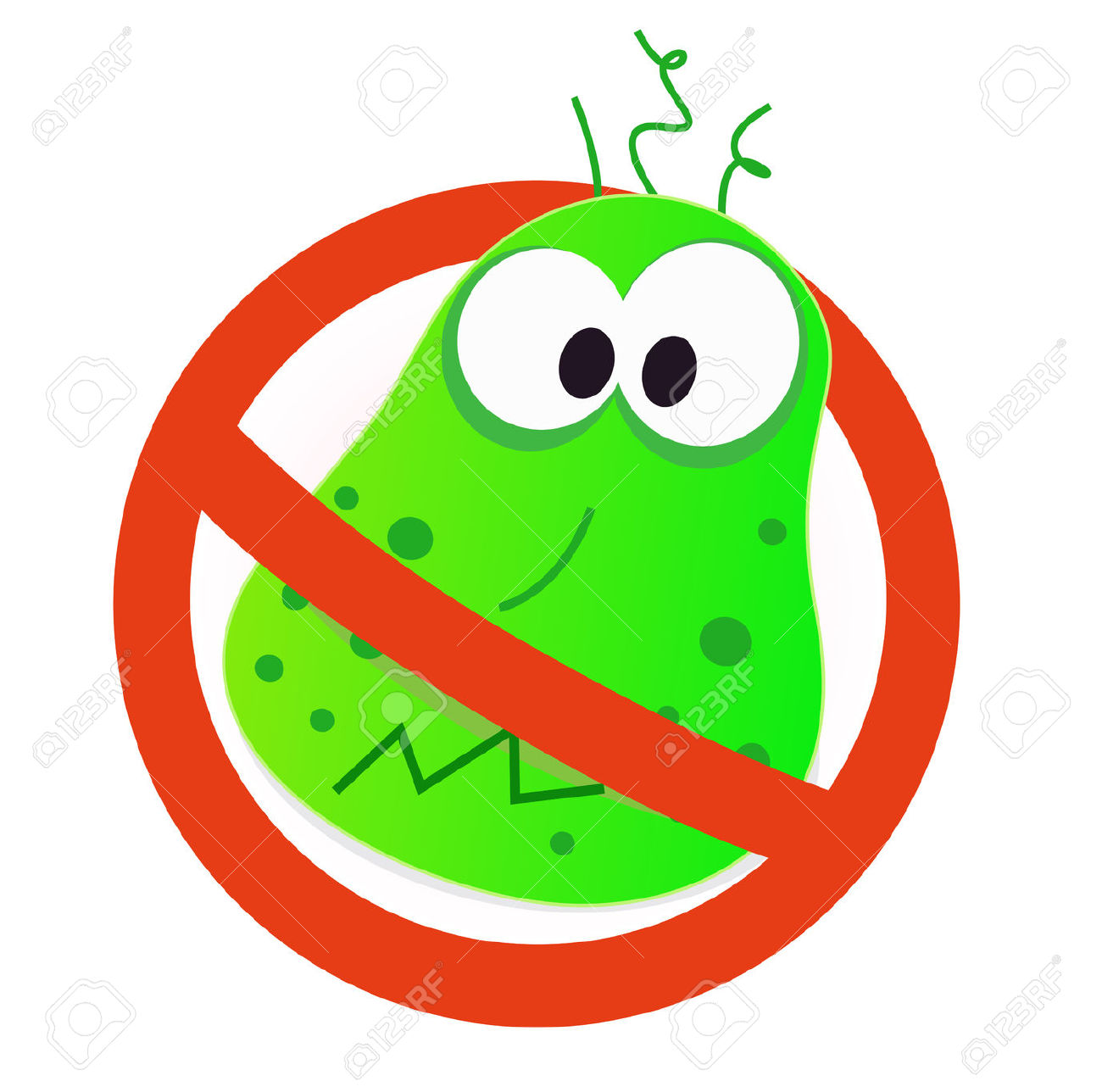 Stop germs vaccine . Germ clipart