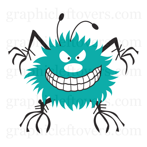 Germ clipart bug. Angry or gl stock