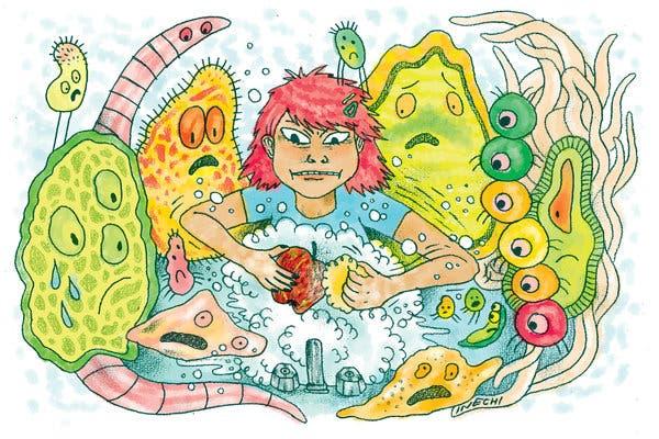Invite some germs to. Germ clipart listeria