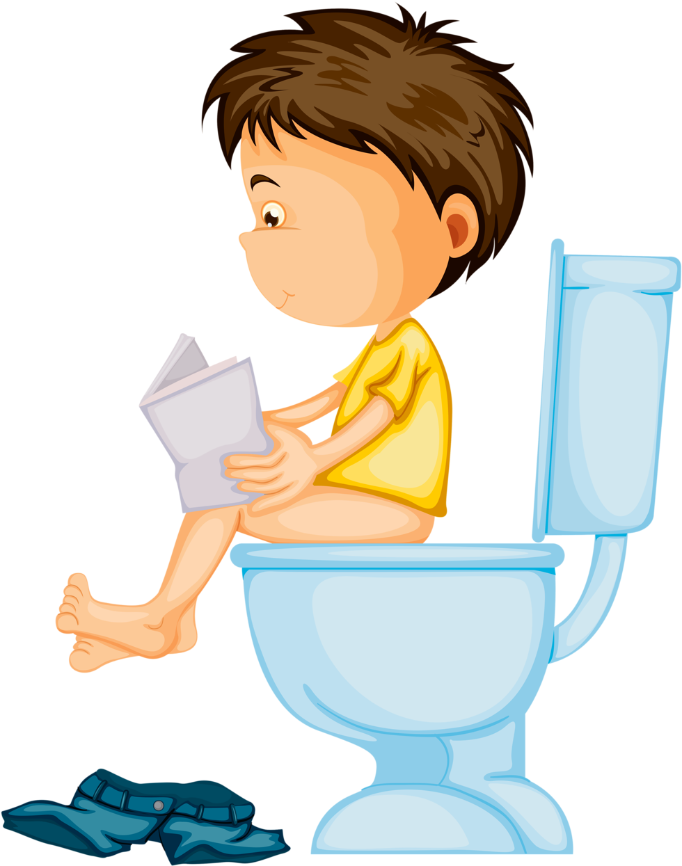 People album sitting on. Germs clipart potty