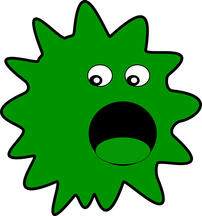 Free png germs transparent. Germ clipart sick