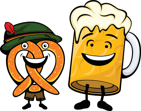 collection of pretzel. German clipart