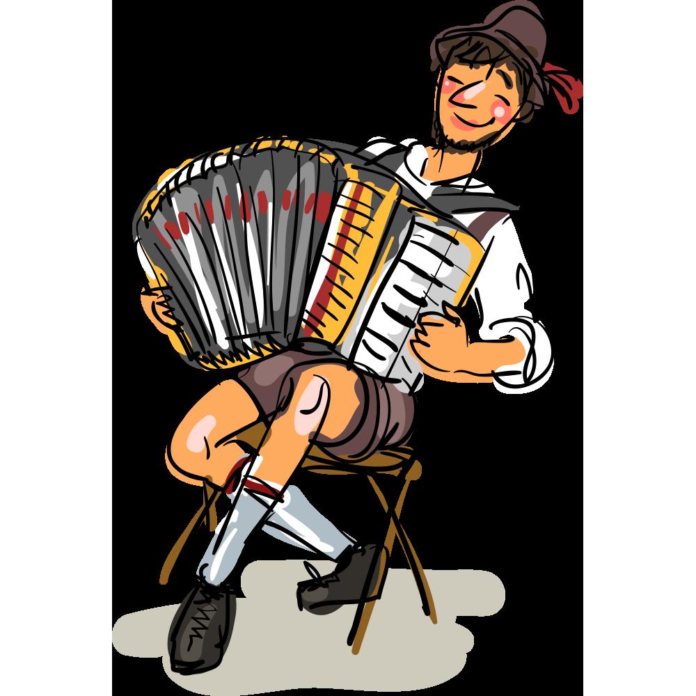 Win a trip to. German clipart accordion german