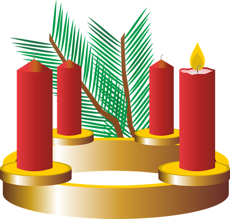 Free photo christmas time. German clipart advent wreath