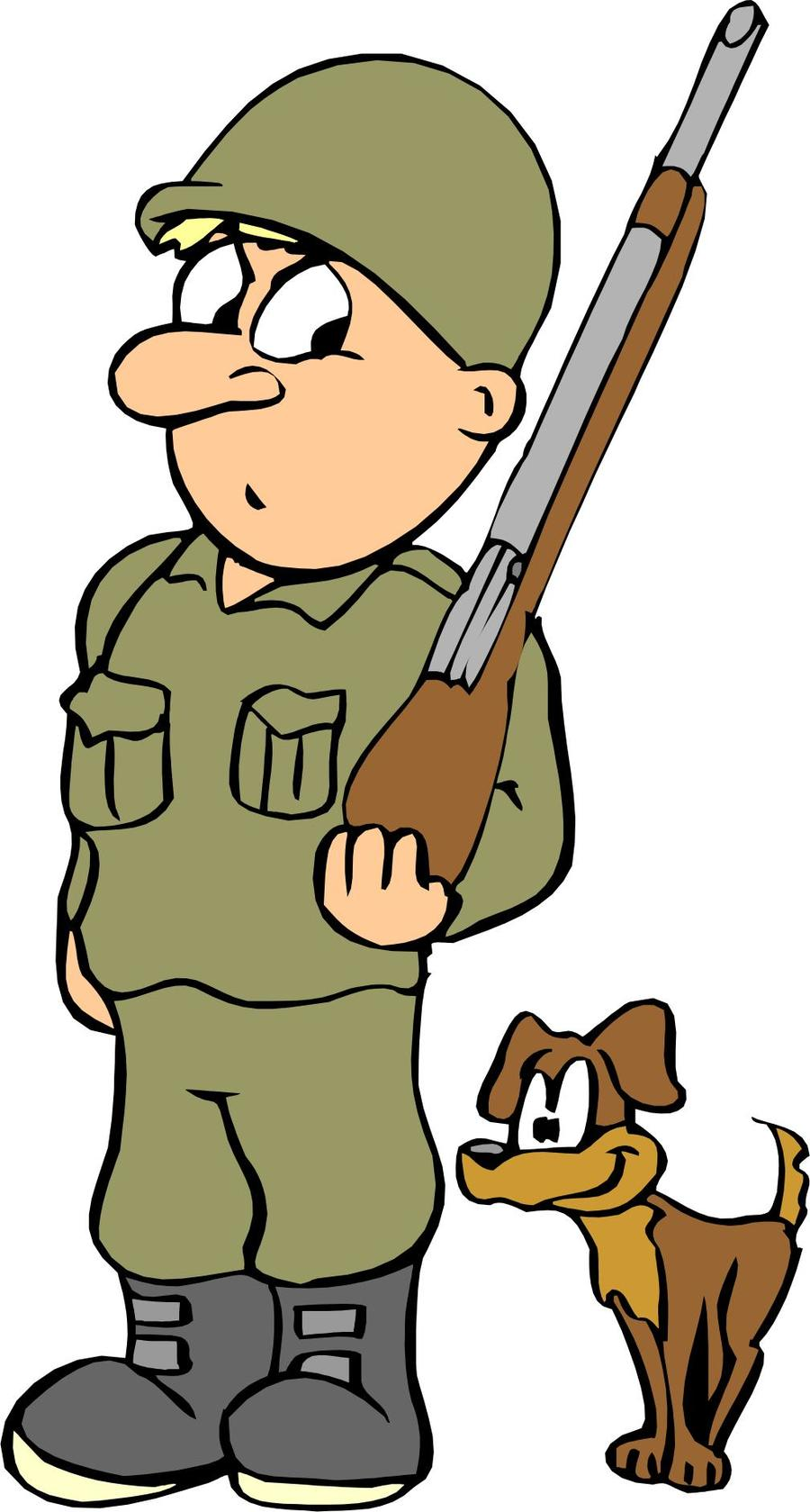 Soldier army finger hand. German clipart cartoon