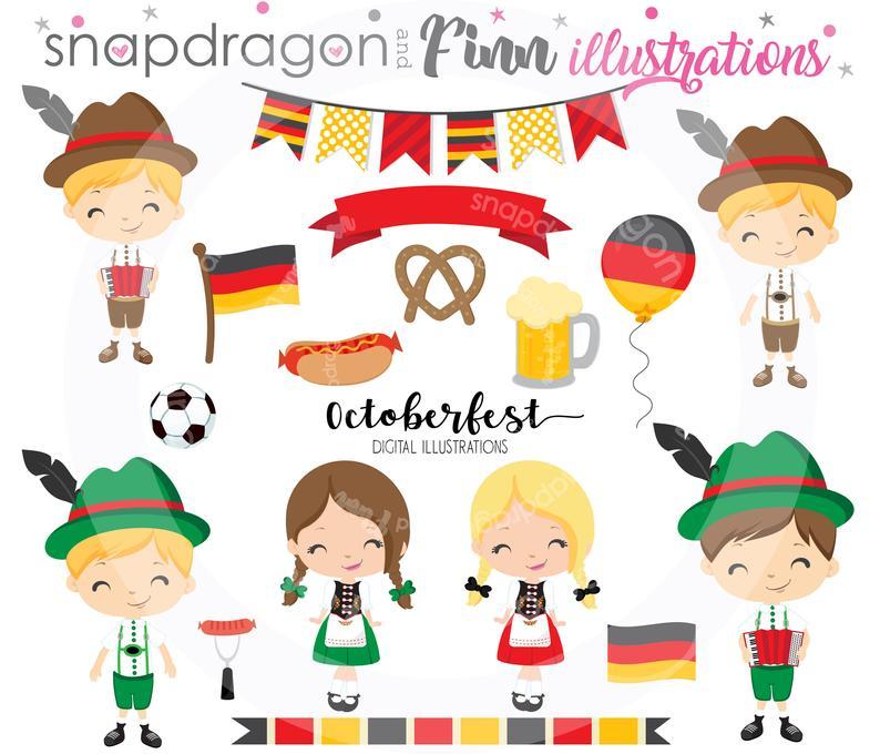 Buy get octoberfest kids. German clipart cute