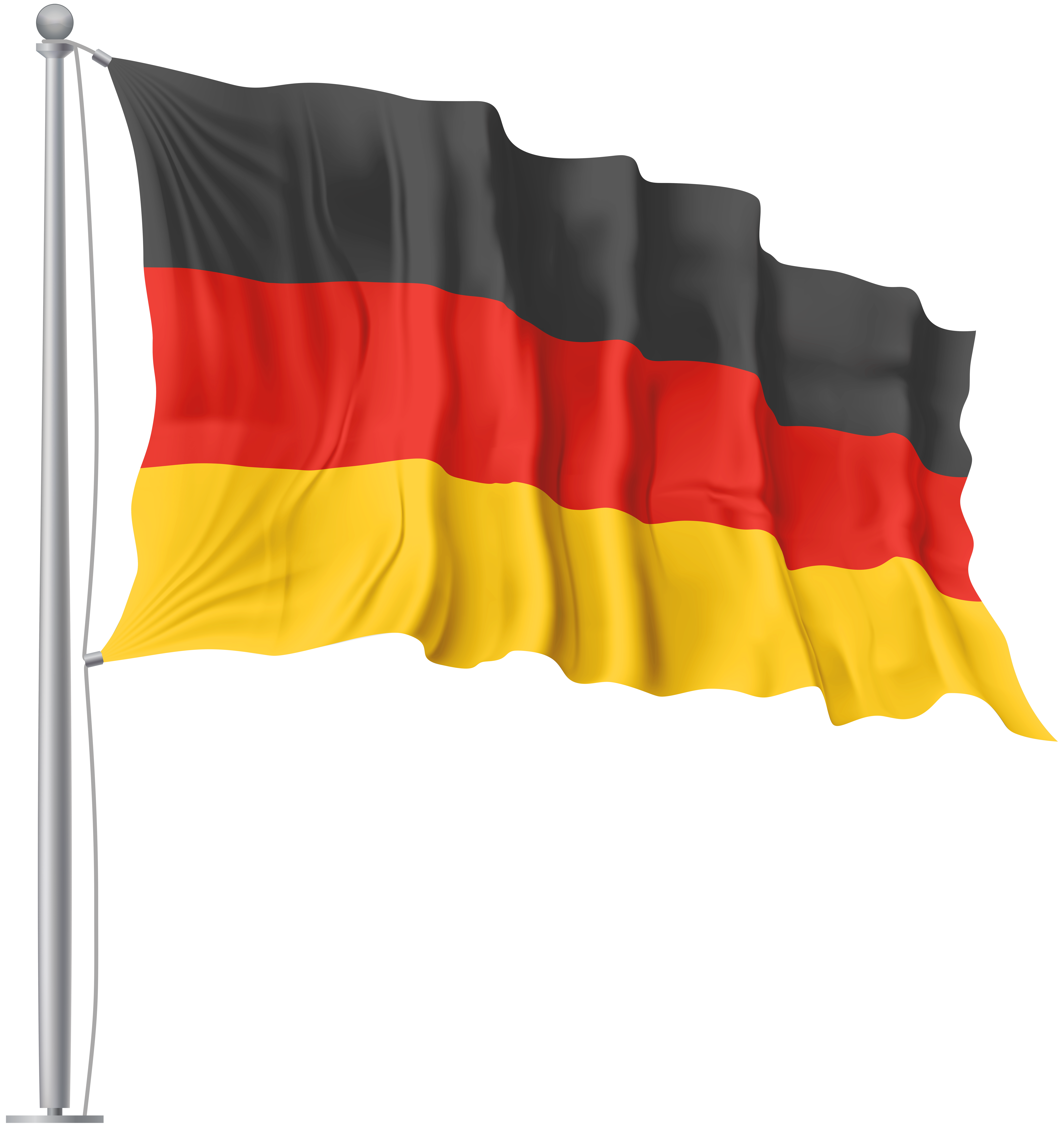 Waving flag png image. Germany clipart yellow