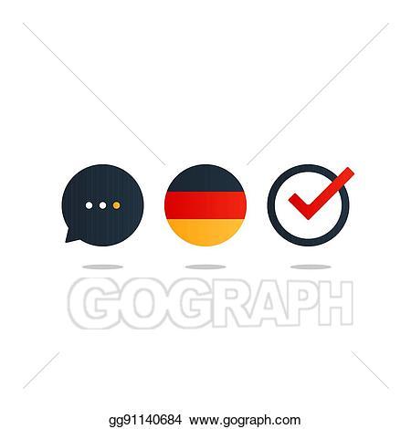Clip art vector language. German clipart fluent