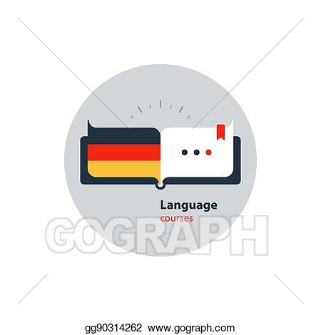 German clipart fluent. Clip art vector language
