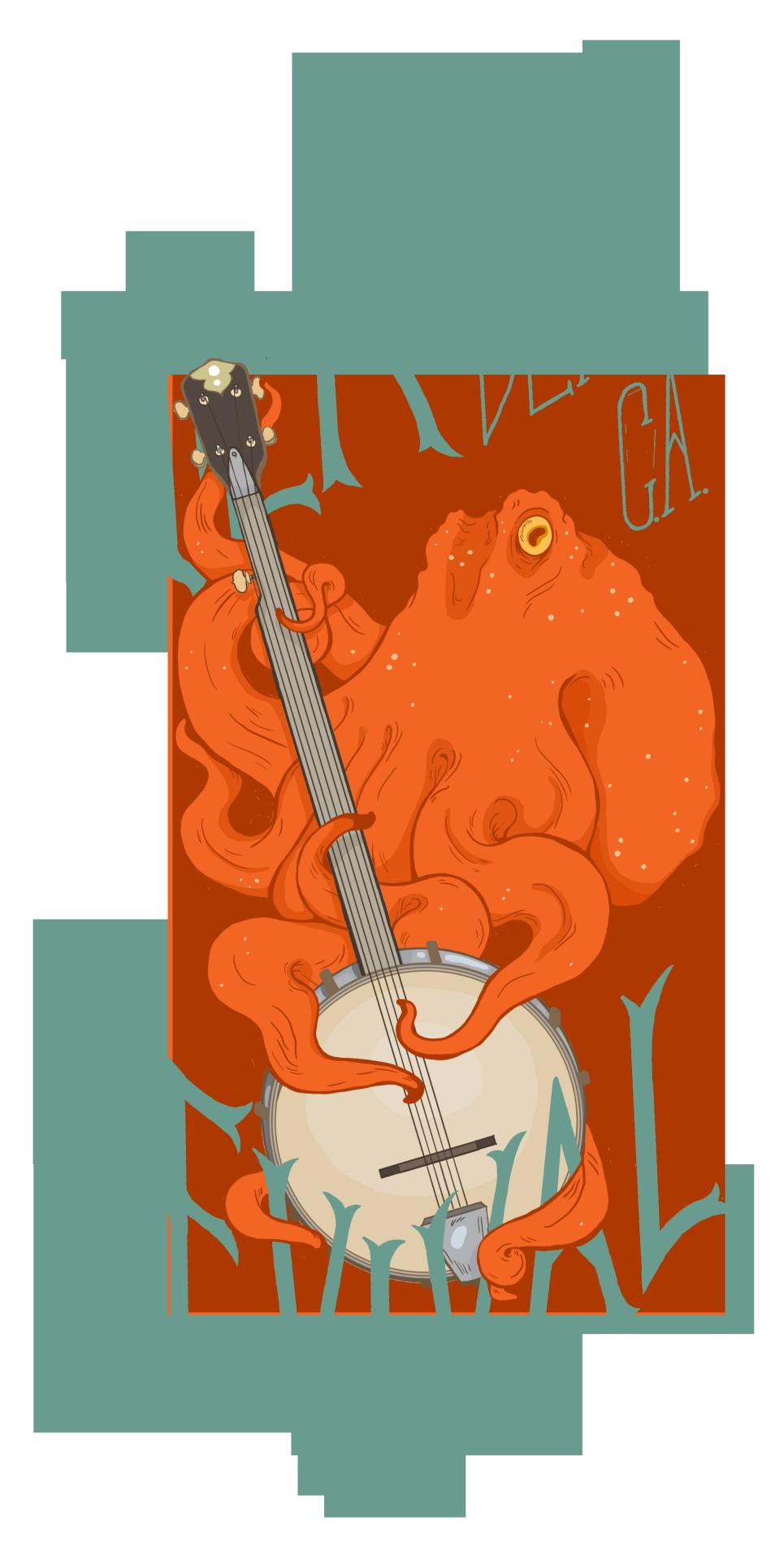 Hillbilly clipart banjo. An octopus would make