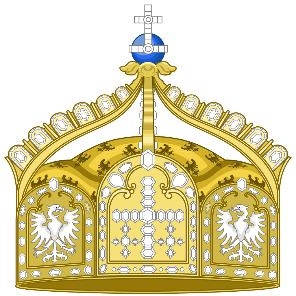 File state crown of. German clipart german house