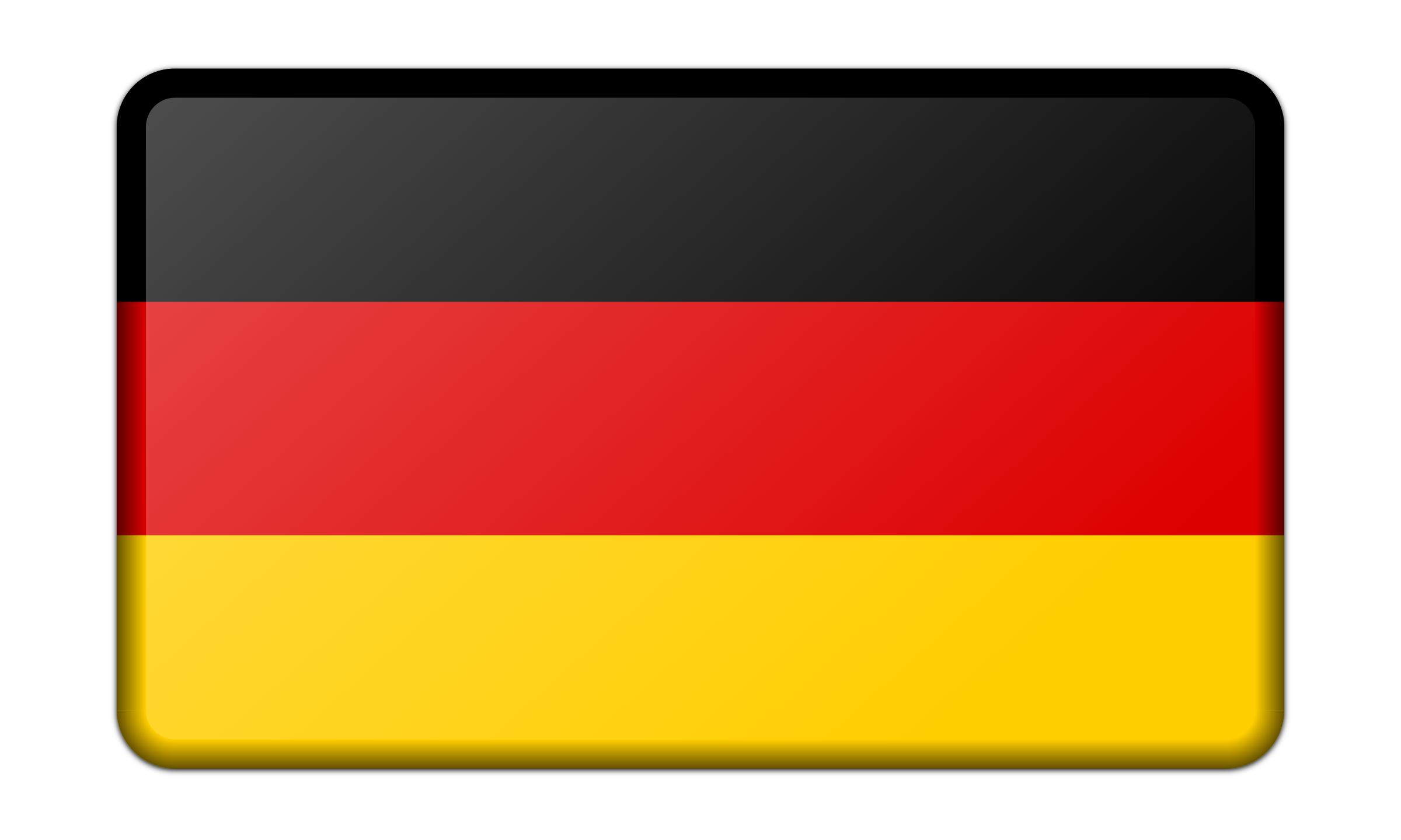 Flag of bevelled icons. Germany clipart yellow