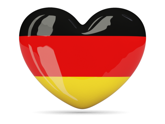 German clipart icon. Heart download flag of
