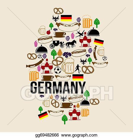 German clipart icon. Vector art germany landmark