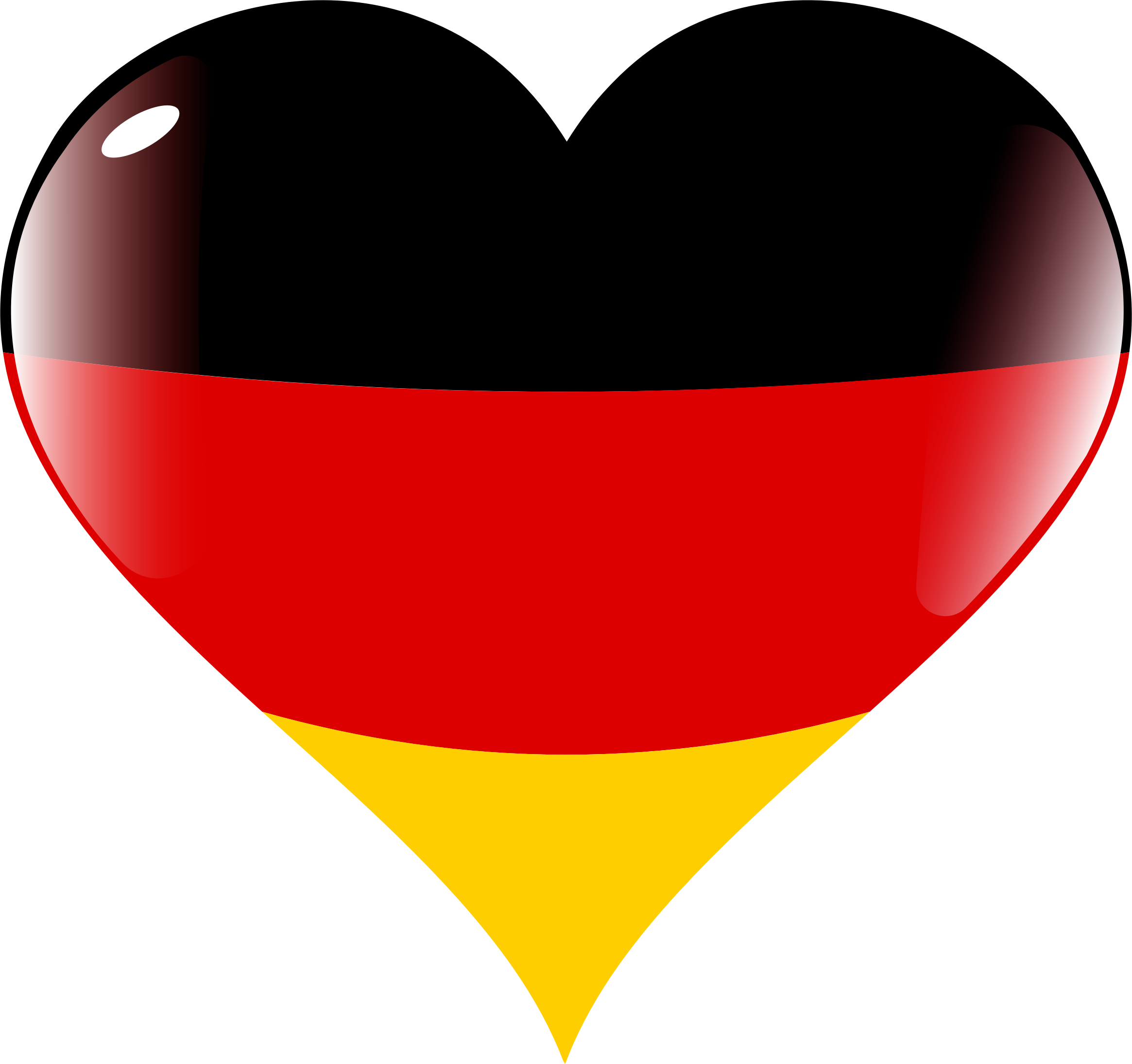 Heart germany big image. German clipart small