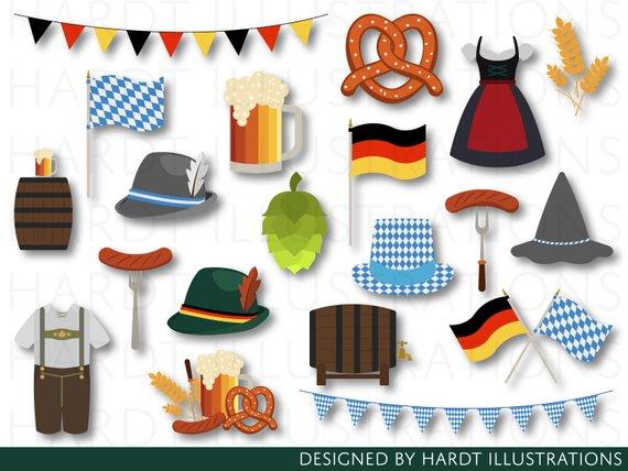 German clipart small. Oktoberfest germany bavaria beer