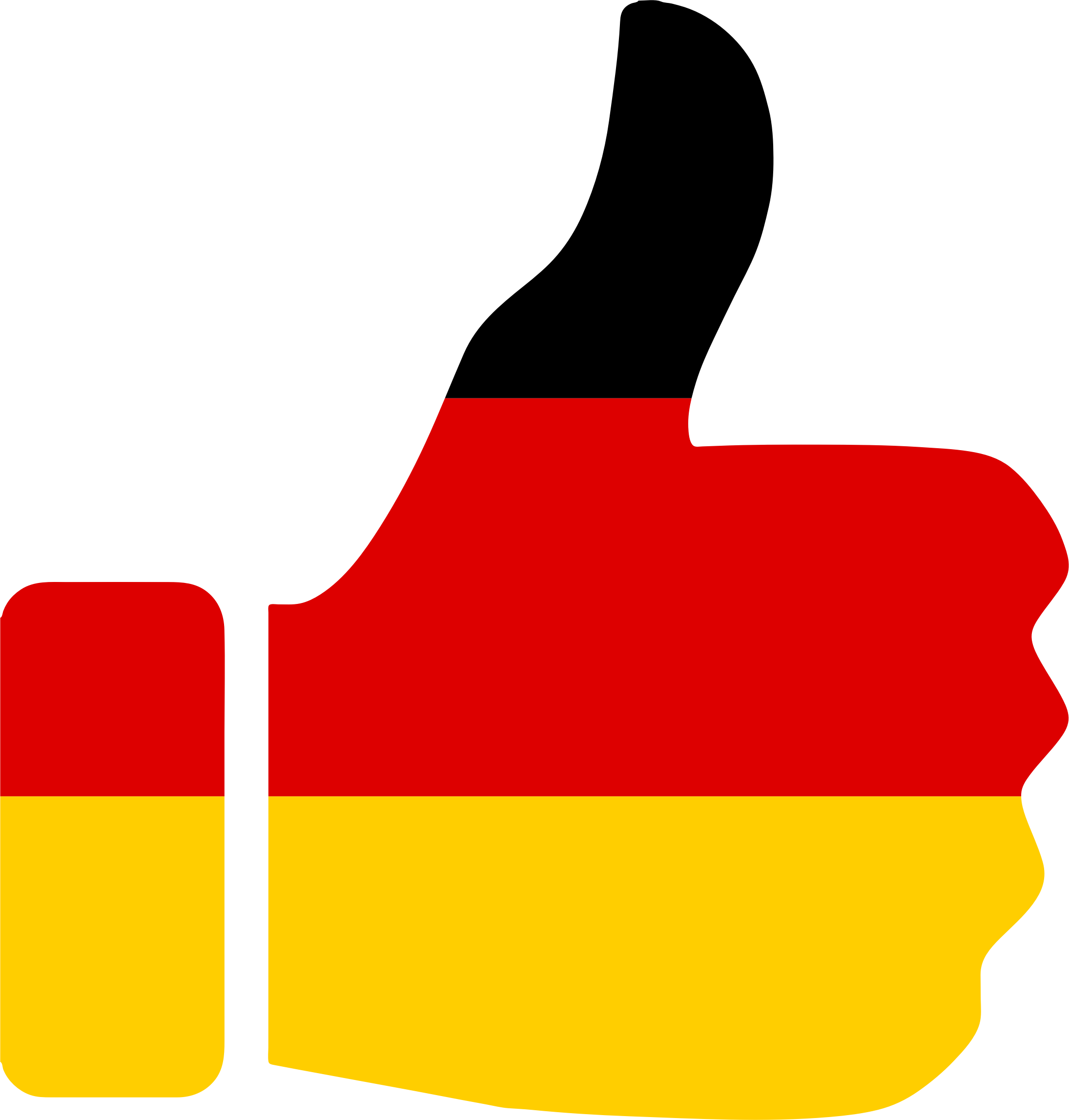 Thumbs up germany big. German clipart small