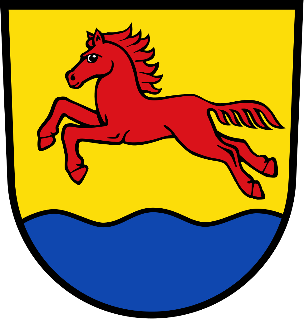 German clipart wavy. Stutensee coat of arms