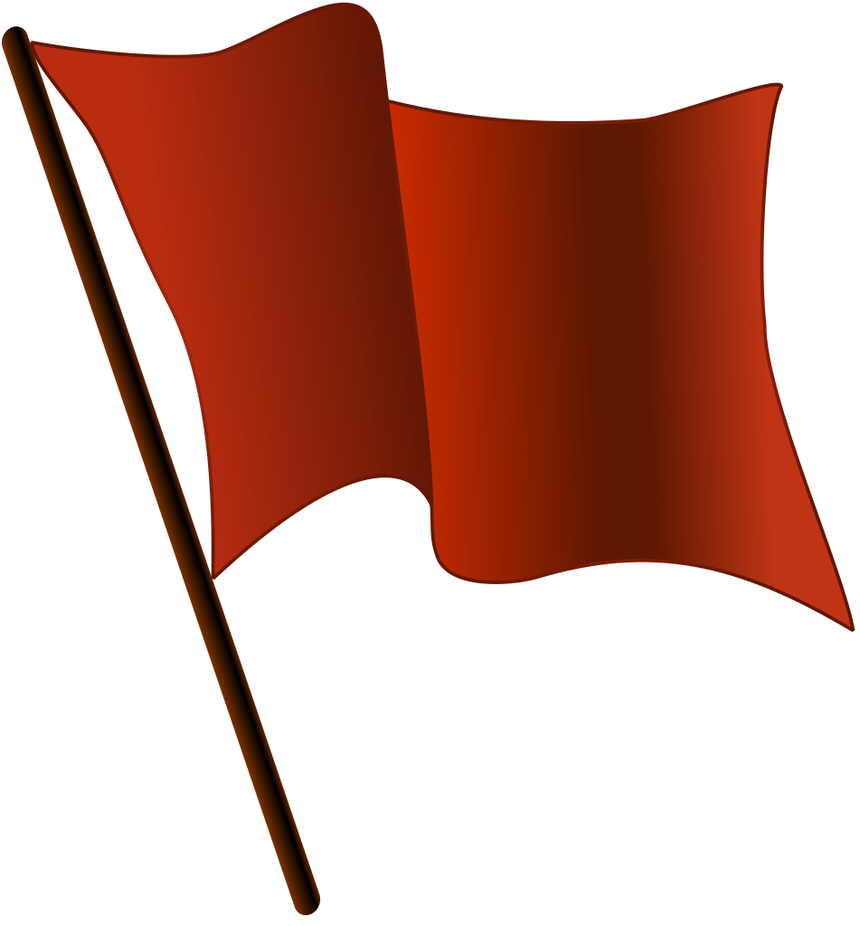 File red flag waving. German clipart wavy