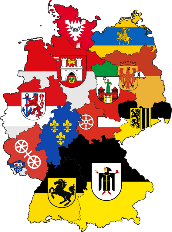 Flags of state capitals. German clipart world flag