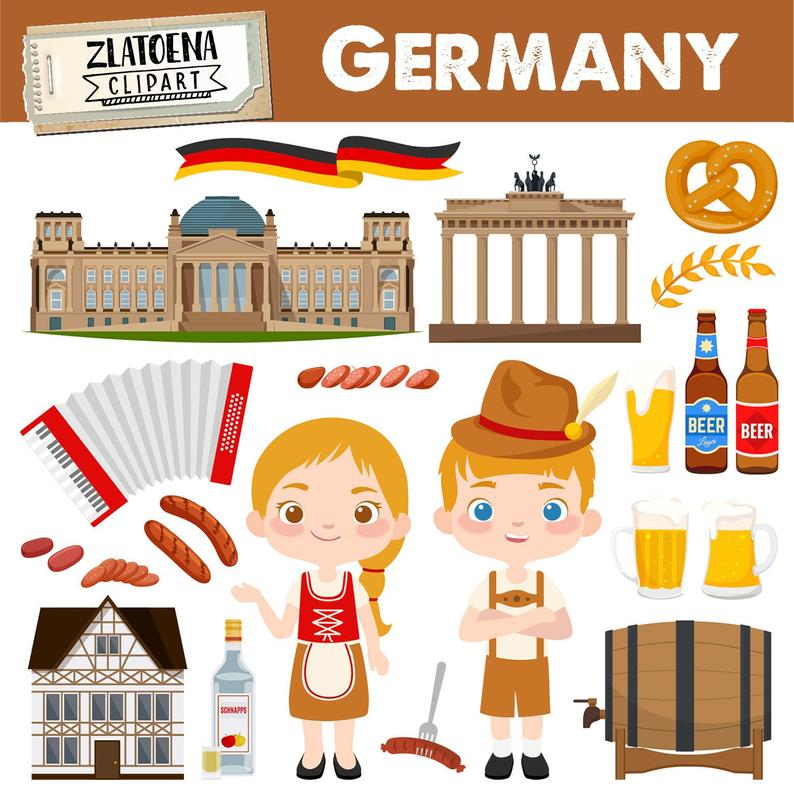 Octoberfest clip art beer. Germany clipart