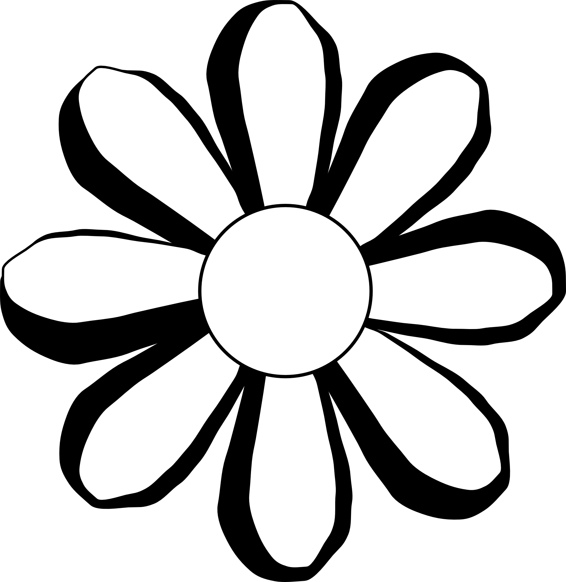 Flower design free download. Germany clipart black and white